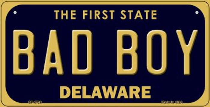 Bad Boy Delaware Novelty Metal Bicycle Plate BP-6726