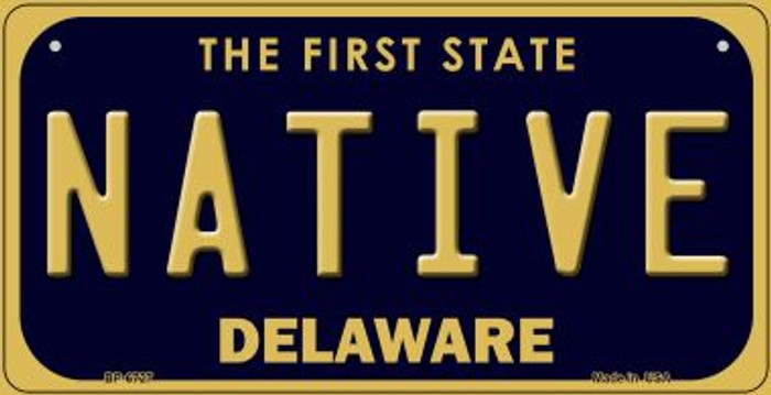 Native Delaware Novelty Metal Bicycle Plate BP-6727