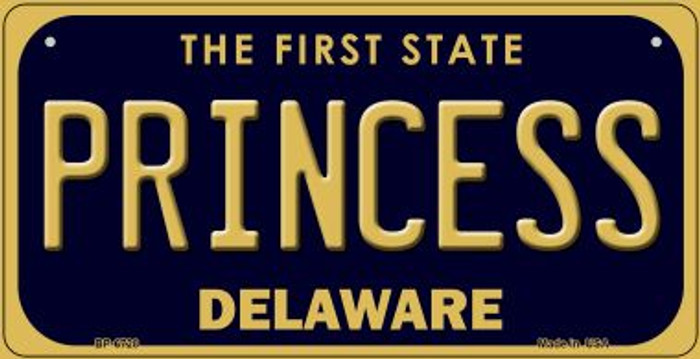 Princess Delaware Novelty Metal Bicycle Plate BP-6728