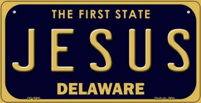 Jesus Delaware Novelty Metal Bicycle Plate BP-6735