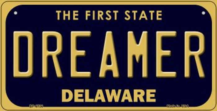 Dreamer Delaware Novelty Metal Bicycle Plate BP-6736