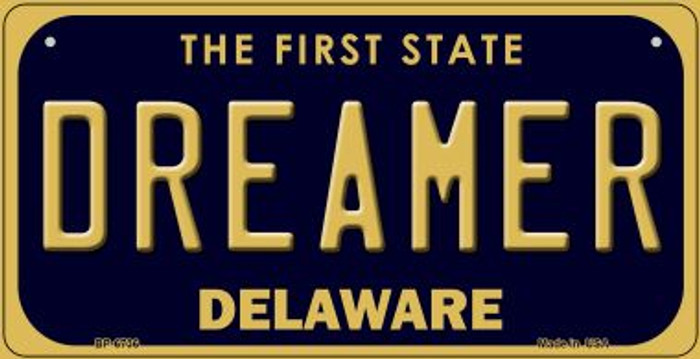 Dreamer Delaware Novelty Metal Bicycle Plate BP-6736