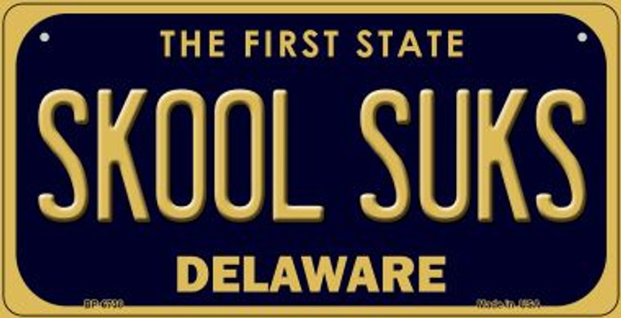 Skool Suks Delaware Novelty Metal Bicycle Plate BP-6738