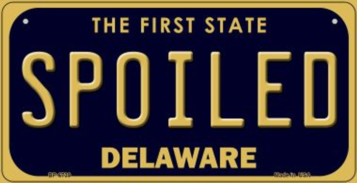 Spoiled Delaware Novelty Metal Bicycle Plate BP-6739