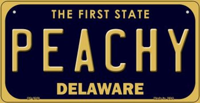 Peachy Delaware Novelty Metal Bicycle Plate BP-6740