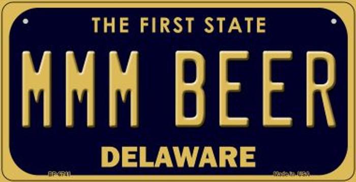 MMM Beer Delaware Novelty Metal Bicycle Plate BP-6741