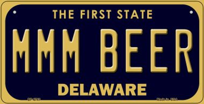 MMM Beer Delaware Novelty Metal Bicycle Plate BP-6741