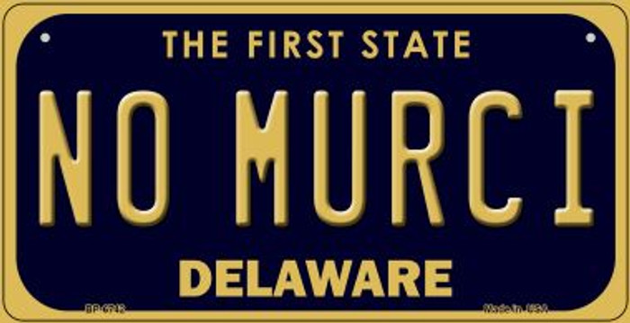 No Murci Delaware Novelty Metal Bicycle Plate BP-6742