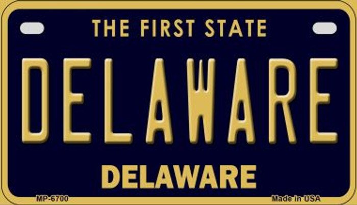 Delaware Novelty Metal Motorcycle Plate MP-6700