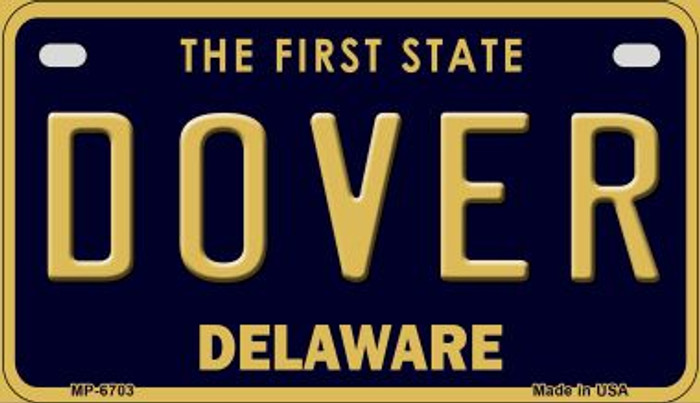 Dover Delaware Novelty Metal Motorcycle Plate MP-6703