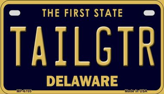 Tailgtr Delaware Novelty Metal Motorcycle Plate MP-6705
