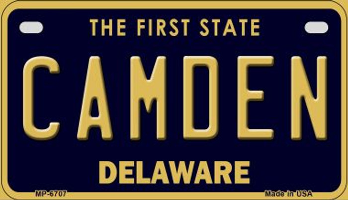 Camden Delaware Novelty Metal Motorcycle Plate MP-6707