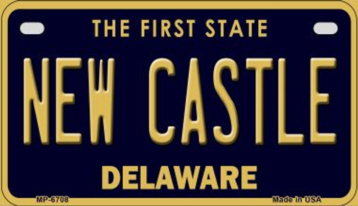 New Castle Delaware Novelty Metal Motorcycle Plate MP-6708