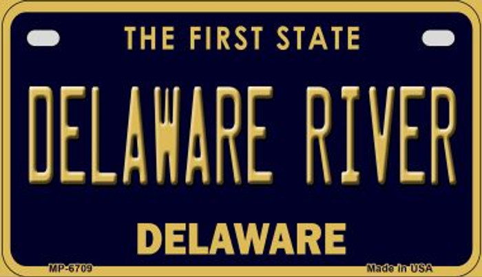 Delaware River Novelty Metal Motorcycle Plate MP-6709