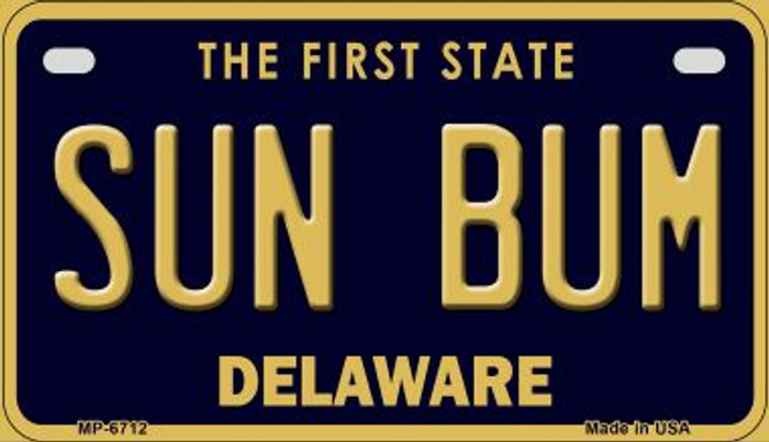 Sun Bum Delaware Novelty Metal Motorcycle Plate MP-6712