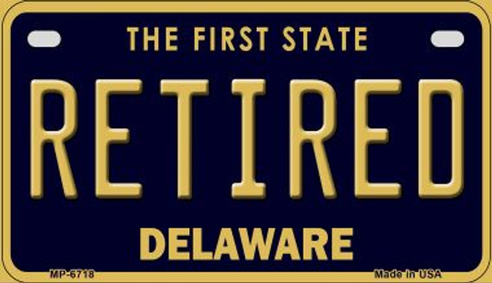 Retired Delaware Novelty Metal Motorcycle Plate MP-6718