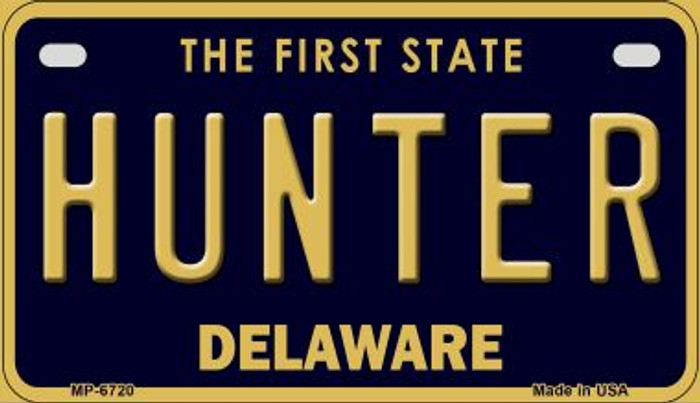 Hunter Delaware Novelty Metal Motorcycle Plate MP-6720