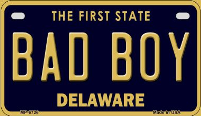 Bad Boy Delaware Novelty Metal Motorcycle Plate MP-6726