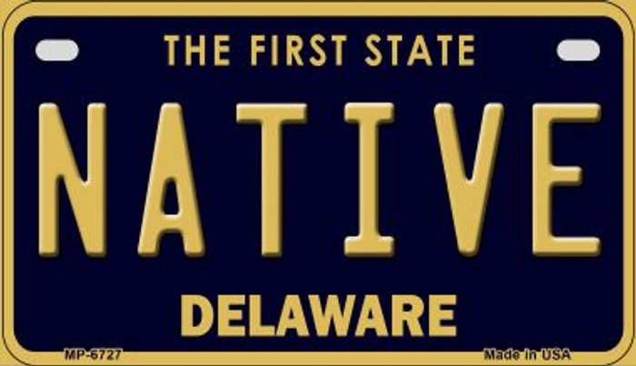 Native Delaware Novelty Metal Motorcycle Plate MP-6727