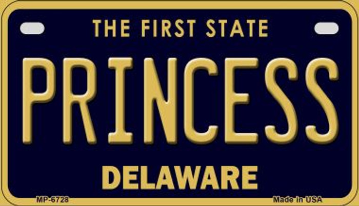 Princess Delaware Novelty Metal Motorcycle Plate MP-6728