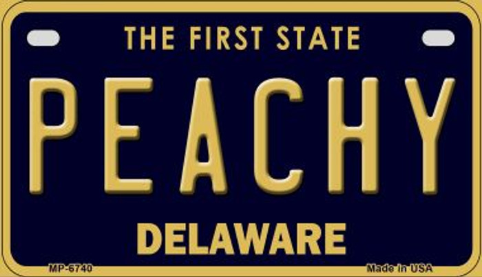 Peachy Delaware Novelty Metal Motorcycle Plate MP-6740