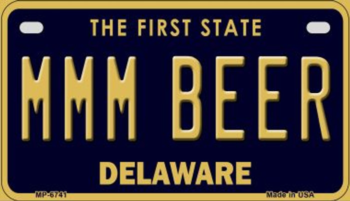 MMM Beer Delaware Novelty Metal Motorcycle Plate MP-6741