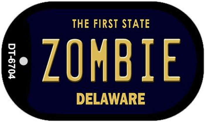 Zombie Delaware Novelty Metal Dog Tag Necklace DT-6704