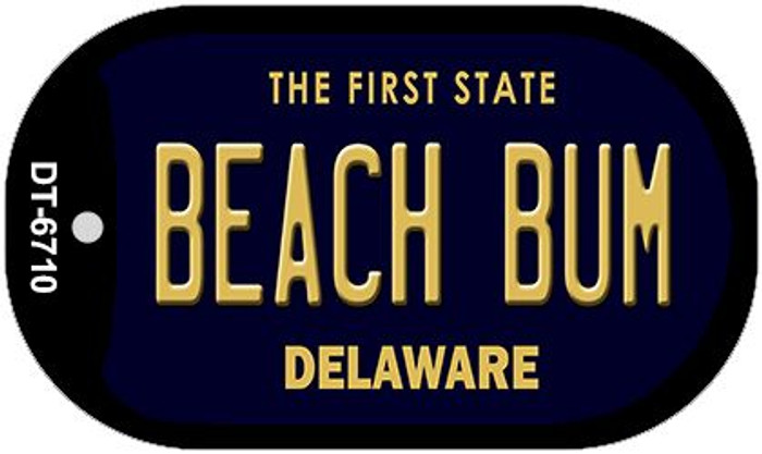 Beach Bum Delaware Novelty Metal Dog Tag Necklace DT-6710