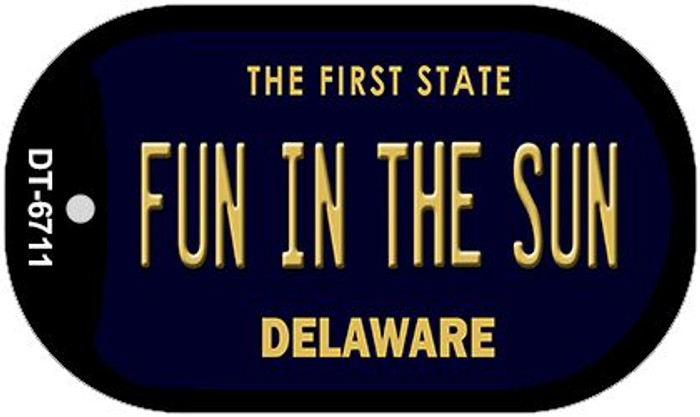 Fun in the Sun Delaware Novelty Metal Dog Tag Necklace DT-6711