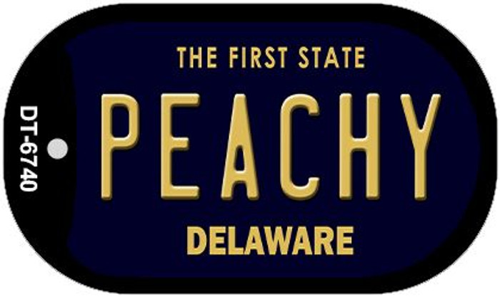 Peachy Delaware Novelty Metal Dog Tag Necklace DT-6740