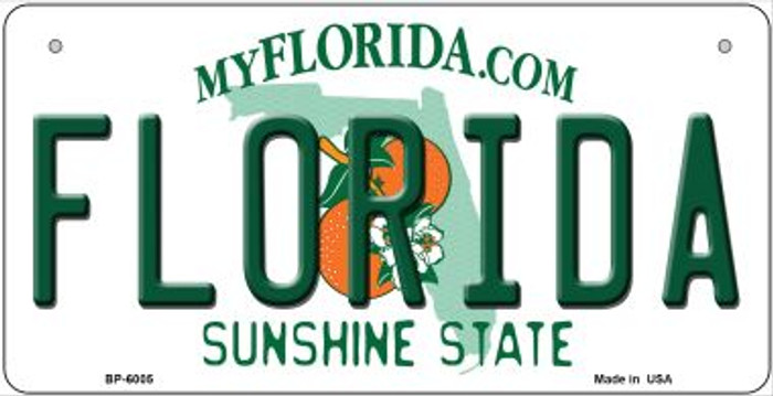 Florida Novelty Metal Bicycle Plate BP-6005