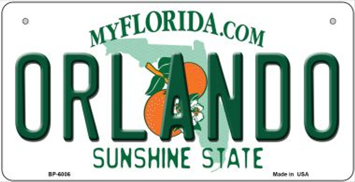 Orlando Florida Novelty Metal Bicycle Plate BP-6006