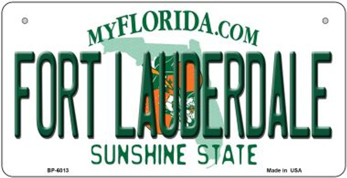 Fort Lauderdale Florida Novelty Metal Bicycle Plate BP-6013
