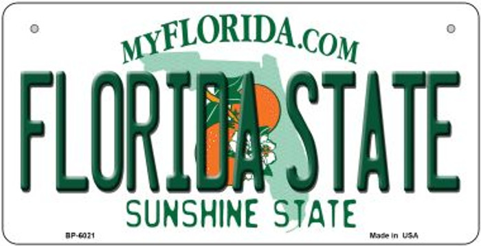 Florida State University Novelty Metal Bicycle Plate BP-6021