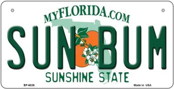 Sun Bum Florida Novelty Metal Bicycle Plate BP-6026