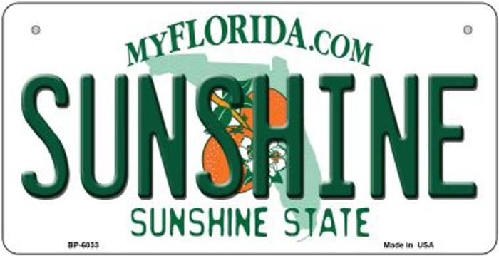 Sunshine Florida Novelty Metal Bicycle Plate BP-6033