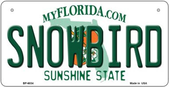 Snowbird Florida Novelty Metal Bicycle Plate BP-6034