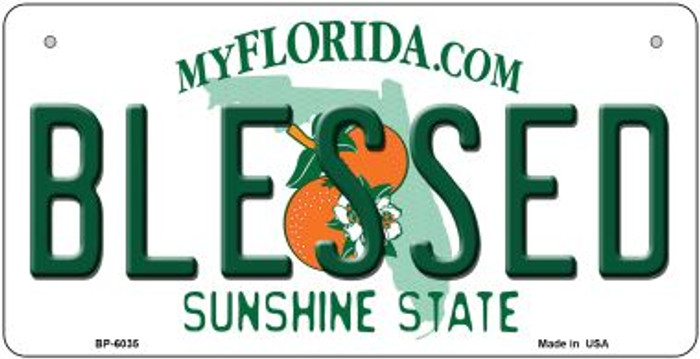 Blessed Florida Novelty Metal Bicycle Plate BP-6035