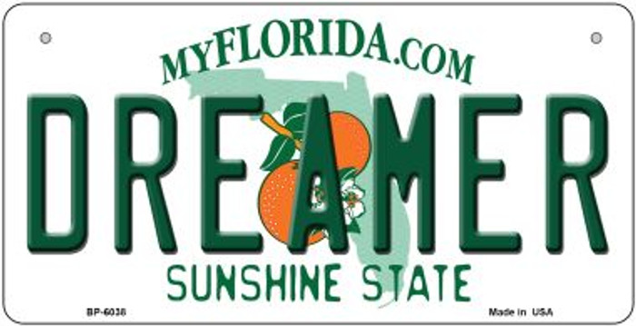 Dreamer Florida Novelty Metal Bicycle Plate BP-6038
