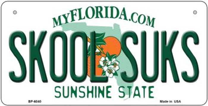 Skool Suks Florida Novelty Metal Bicycle Plate BP-6040