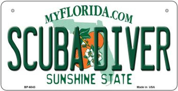 Scuba Diver Florida Novelty Metal Bicycle Plate BP-6043