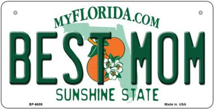 Best Mom Florida Novelty Metal Bicycle Plate BP-6659