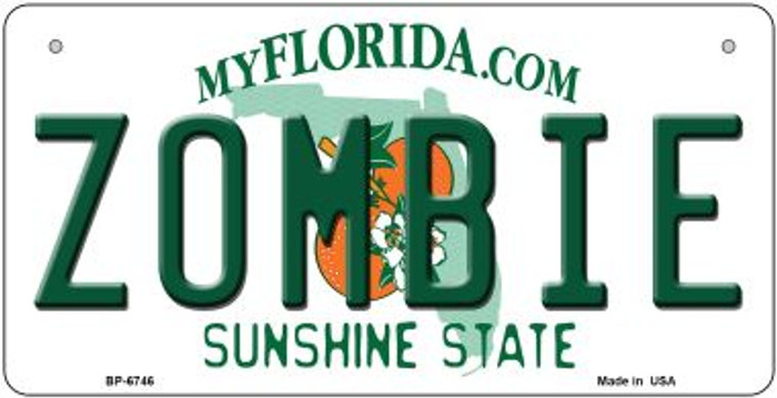 Zombie Florida Novelty Metal Bicycle Plate BP-6746