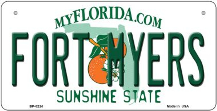Fort Myers Florida Novelty Metal Bicycle Plate BP-8224