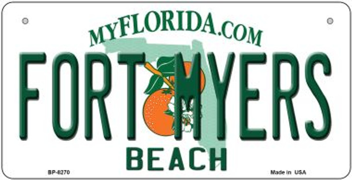 Fort Myers Beach Florida Novelty Metal Bicycle Plate BP-8270