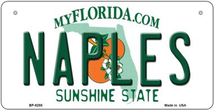 Naples Florida Novelty Metal Bicycle Plate BP-8285