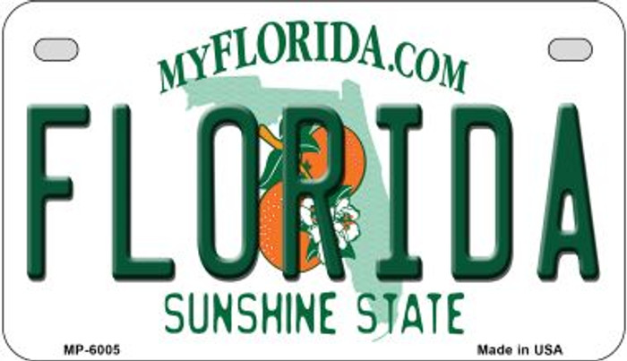 Florida Novelty Metal Motorcycle Plate MP-6005
