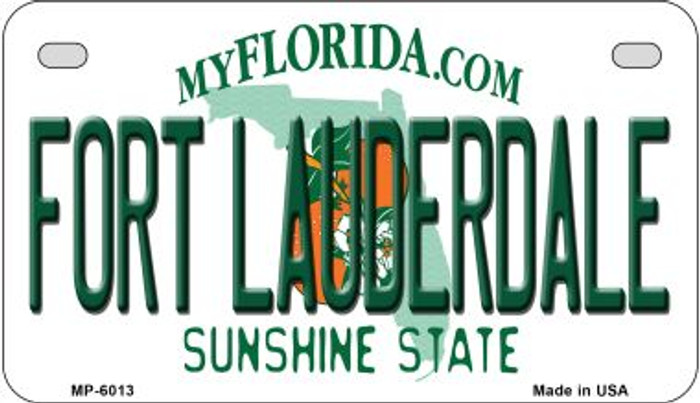 Fort Lauderdale Florida Novelty Metal Motorcycle Plate MP-6013