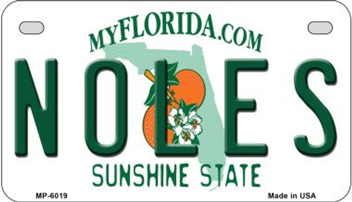 Noles Florida Novelty Metal Motorcycle Plate MP-6019