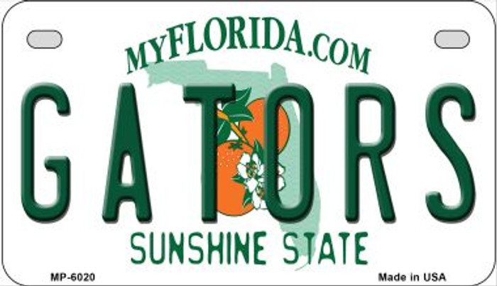 Gators Florida Novelty Metal Motorcycle Plate MP-6020